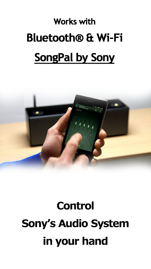 SongPal:Bluetooth/Wi-Fi remote- screenshot