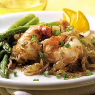 Jumbo Prawns & Balsamic-Orange Onions