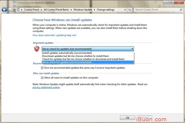 Ảnh mô phỏngLàm thế nào để tắt Windows 7/8/8.1/10 tự nâng cấp, cập nhật - Tat-User-Account-Control-4