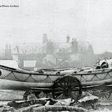 Manley Wood - Poole's first lifeboat at the railway yard next to Hamworthy Bridge, Poole