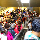 Seoul subway on a busy eve in Seoul, Seoul Special City, South Korea