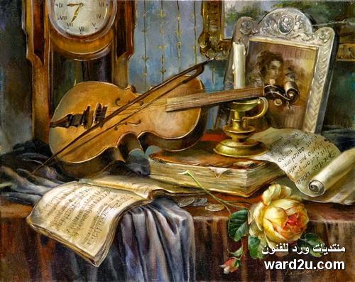 الانسجام الداخلى ودقة التفاصيل فى لوحات Rimma Nikolaevna