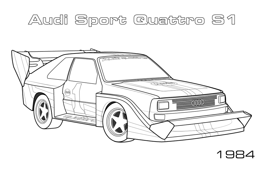 Rally Cars - Car Coloring Pages