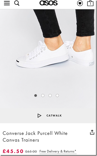 Converse Jack Purcell white on asos