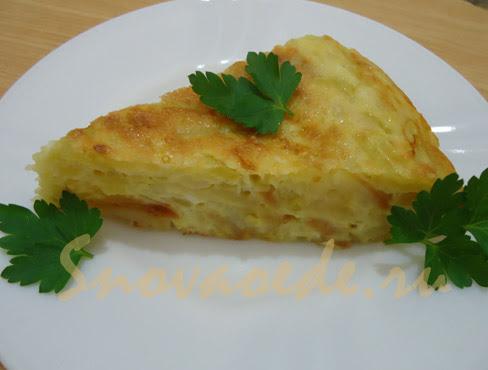 жареная картошка с яйцом