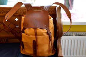 leather backpack handmade № 151-RBM