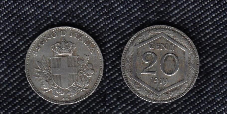Mi colección de monedas italianas. 20%20centesimi%201919