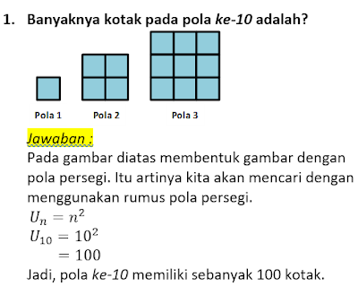 contoh soal dan pembahasan pola bilangan 1