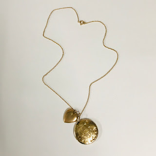 14K Gold Heart and Locket Necklace