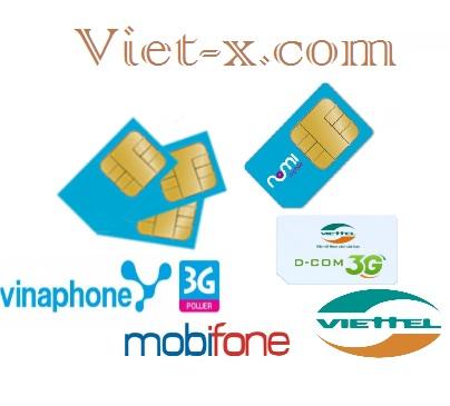 Phân phối sim điện thoại 3G mobi - viettel - vina