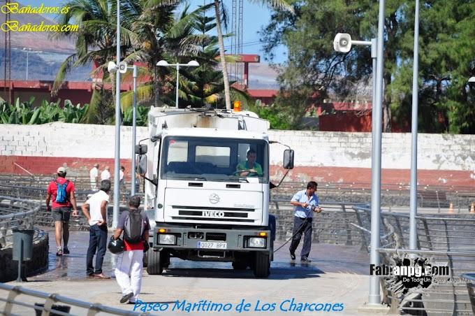 Trabajos Previos a la Inauguración del Paseo Marítimo de los Charcones