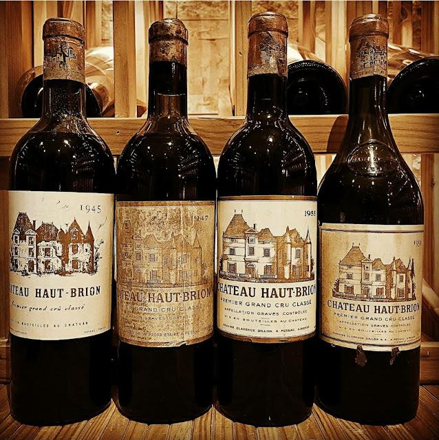 Chateau Haut-Brion 1945 1947 1955 1959  bottles shot by ©LeDomduVin 2020