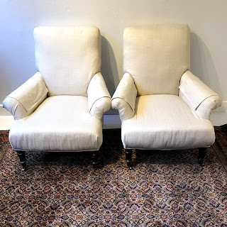 Restoration Hardware English Roll-Arm Chair Pair