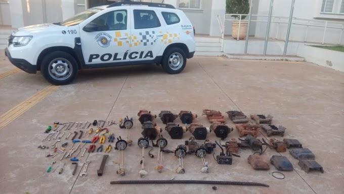 Quadrilha especializada em furtar peças de caminhões é presa em Araçatuba