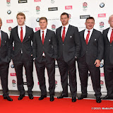 OIC - ENTSIMAGES.COM - Chris Robshaw, Joe launchbury, Owen Farrell, Tom Wood and David Wilson at the  Carry Them Home - rugby dinner (Suits provide by Eden Park) at the Grosvenor House London 5th August 2015 Photo Mobis Photos/OIC 0203 174 1069