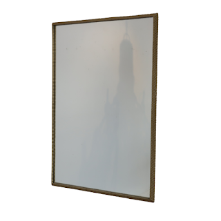 Contemporary Gold-Framed Mirror