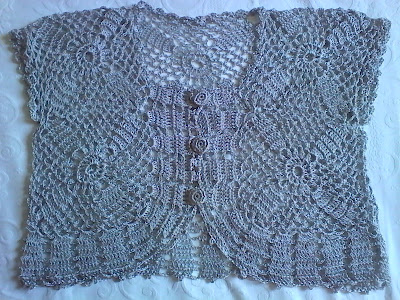 Bolero de Crochê - Ponto Com Artesanatos