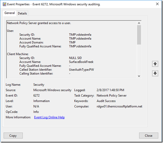 The Microsoft Platform: Securing RD Gateway with MFA using