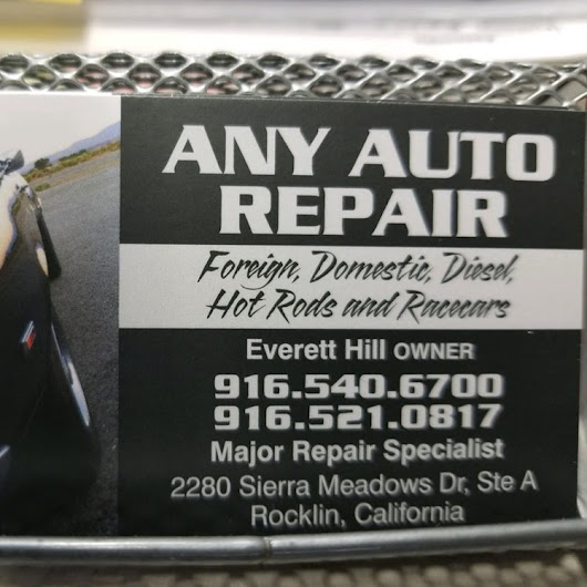 Any Auto Repair Service
