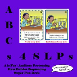 ABCs 4 SLPs: A is for Auditory Processing - HearBuilder Sequencing Super Fun Deck Review image