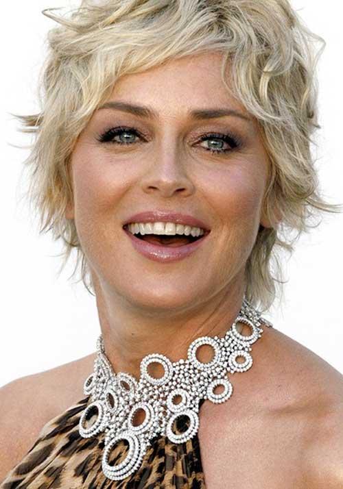 Sharon Stone Golden Blonde Short Sharon-Stone-Short-W