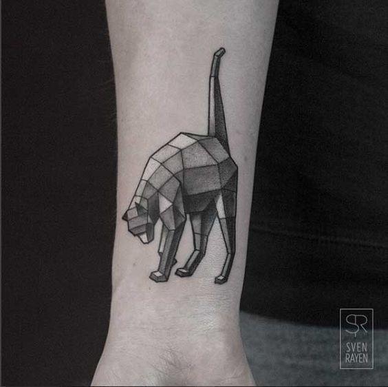 sombreado_cauda_levantada_gato_pulso_de_tatuagem