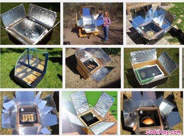 Các biến thể của bếp năng lượng mặt trời