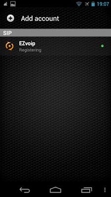 Zoiper Android Registering