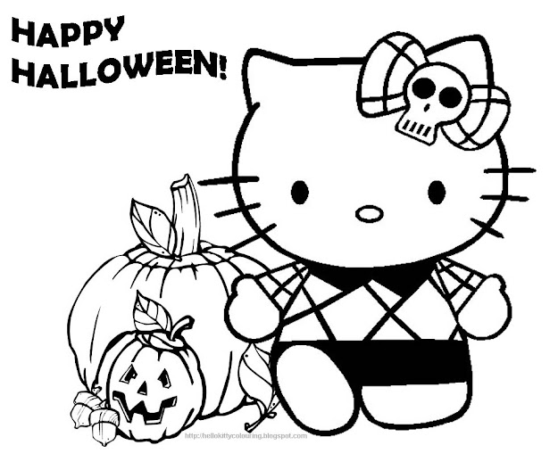 Hello Kitty Halloween Coloring Pages Hello Kitty Forever