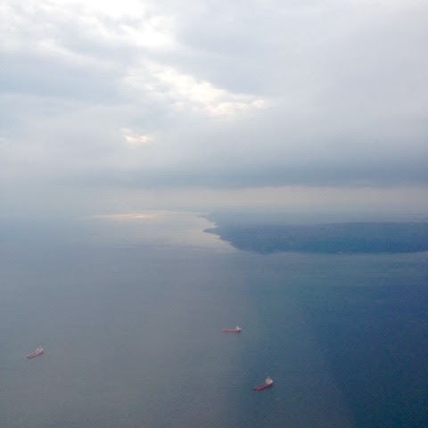Picture of ships near the Black Sea coast of Bulgaria.