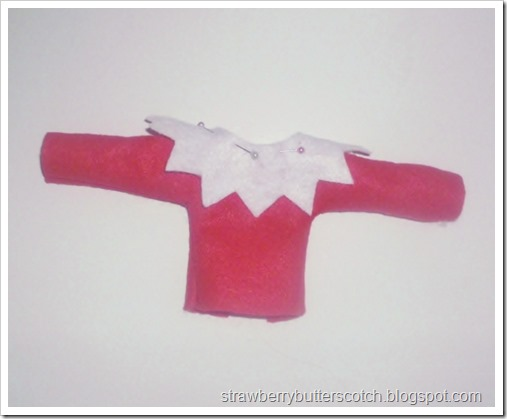 Diy elf on the shelf clothes tutorial with pattern.  Make your own easy elf on the shelf.