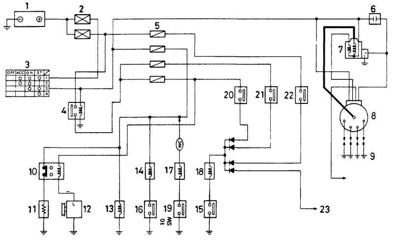 Схема электрических цепей карбюратора