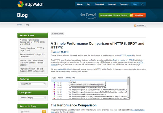 HttpWatch Blog