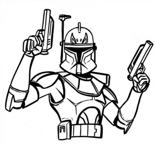 Download Wonderful Captain Rex Star Wars Colouring Pagesstar Wars Coloring