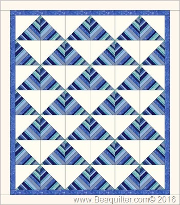 strip star triangle blue 54 x 61