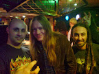 WIth Bill Steer (CARCASS, ANGEL WITCH, etc) & my friend Dino (LITHOMANCY, VICTIMS OF CREATION, DELUGE OF SORROW, etc)