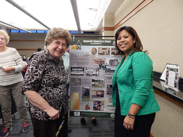 A 1948 graduate of Roosevelt (L) and Cristina Gabarda Elsen, West Bloomfield School District Board of Education Trustee (R)