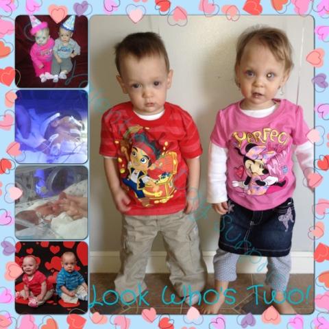 Valentine's Day Twins