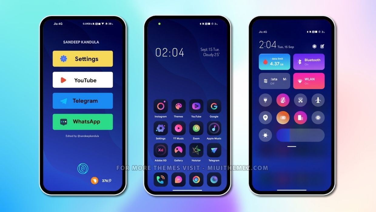 Best Gradient Designed Theme for MIUI 12 Xiaomi Devices