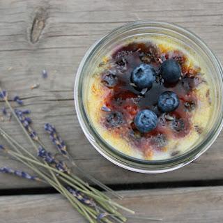 Blueberry Lavender Creme Brulee.