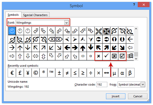 How To Get The Tick Mark Symbol In Excel In A Spreadsheet Techyv