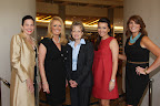 Luncheon co-chair Kimberly Clifton, honorary co-chair Myrna Schlegel, guest speaker Harriet Miers, honorary co-chair Kim Schlegel Whitman and Katie Pedigo, executive director of New Friends New Life.