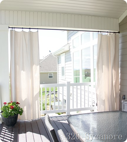 Outdoor Curtains Drop Cloth