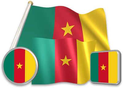 Cameroonian flag animated gif collection