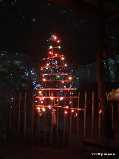 Onze van bamboe geimproviseerde kerstboom.JPG