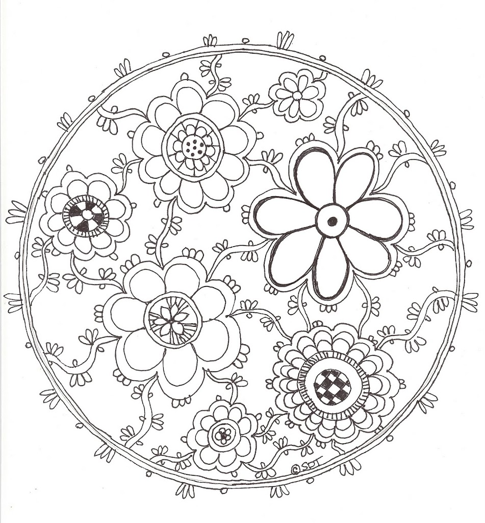 HD Easy Flower Mandala Designs Coloring Pages Design