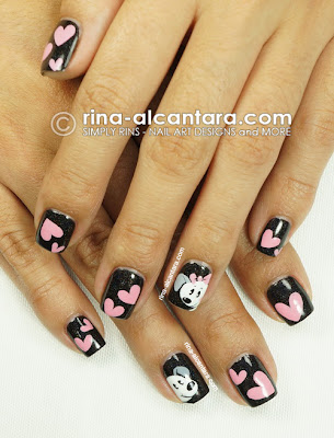 Puppy Love Nail Art by Simply Rins