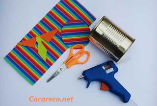 materiais para decoração lata