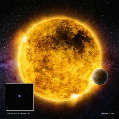 GJ 176, uma estrela parecida com o Sol
