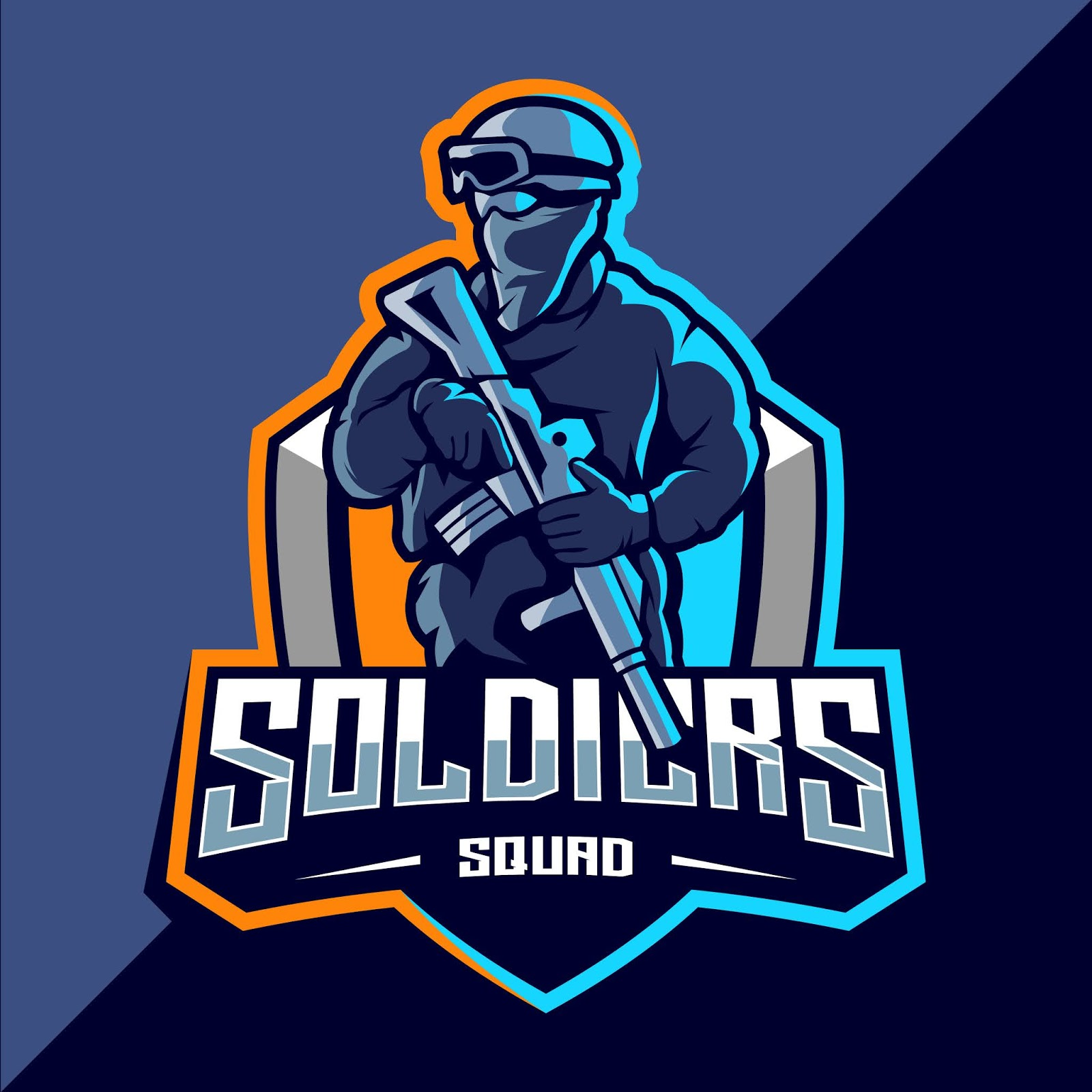 Soldier Mascot Esport Logo Funny Free Download Vector CDR, AI, EPS and PNG Formats